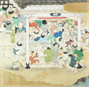 会陽初期の絵図 西大寺縁起絵巻(第三巻)