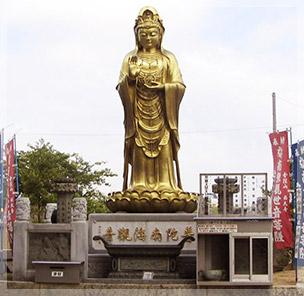 西大寺に贈られた南海観音像