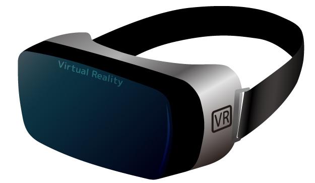 VRゴーグルとヘッドホンの装着